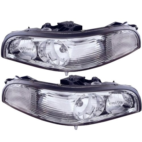 Headlights Depot Replacement for Buick Park Avenue Headlight OE Style Replacement Headlight Driver/Passenger (Buick Park Avenue Headlight Drivers)