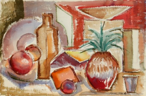 (Tropical Still Life with Pineapple)