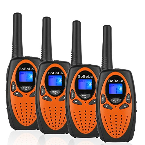 Bobela M880 Two Way Radio Transceiver 22 Channel FRS/GMRS Twin Handheld Cheap Kids Walkie Talkies For 2 Years Old Boys and Girls to Go Camping, Traveling and Cruise Ship(Orange, 2 Pairs)