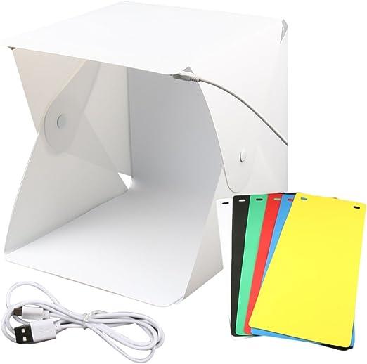 Poitwo - Mini Caja de luz Plegable para Estudio fotográfico ...