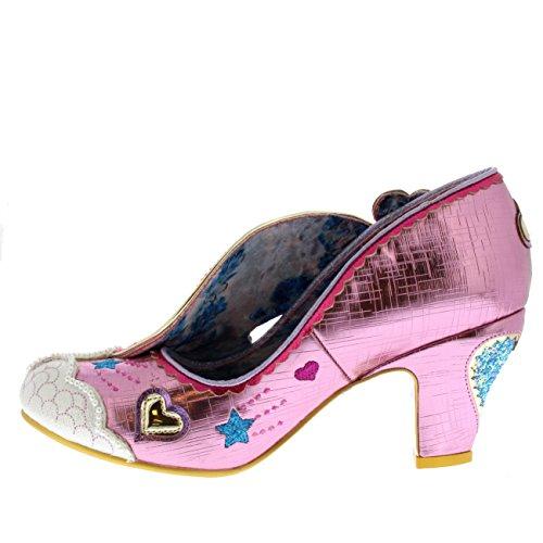 Irregular Choice Womens Summer of Love Glitter Rainbow Wedge Heels - Pink - 9.5 by Irregular Choice (Image #3)