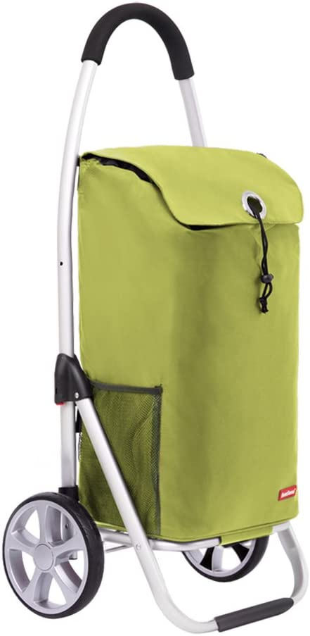 FKDECHE Shopping Helper Shopping cart Trolley Portable Folding Fashion with a 33L Capacity Yellow Bag Load 50 kg Aluminum Alloy Rod