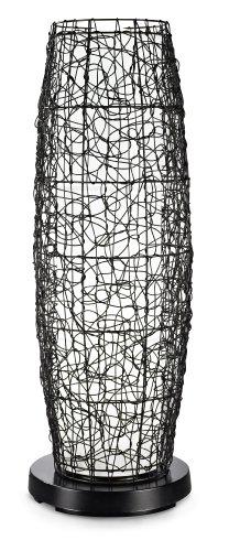 (Patio Living Concepts 68850 PatioGlo Walnut Random Weave Resin Wicker Cover LED Floor Lamp, Bright)