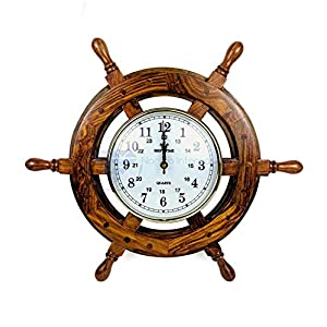 51FtBePw6kL._SS300_ Best Ship Wheel Clocks