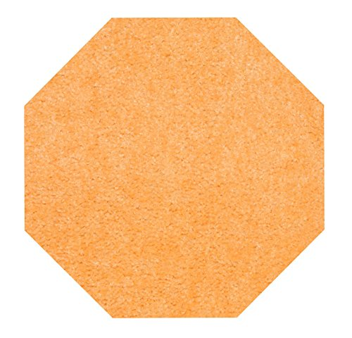 5'6 Octagon Area Rug (Bright House Solid Color Octagon Shape Peach 5' Octagon - Area Rug)