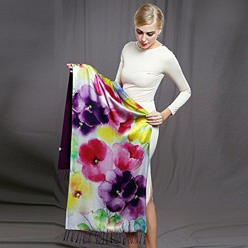 RENYZ.ZKHN High-Grade Silk Scarf Scarf Silk Shawl Fleece Printing High-Grade Silk 52Cm175Cm