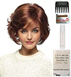 Bundle – 5 items: Danica Wig by Revlon, Christy's Wigs Q & A Booklet, 2oz Travel Size Wig Shampoo, Wig Cap & Wide Tooth Comb – Color: 8R CHESTNUT