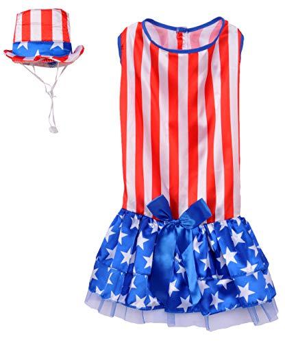 Picture of Rubie's 4th of July Pet Costume, Medium, Patriotic Pooch Girl