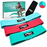 Victorem Booty Resistance Workout Hip Exercise Bands - Fitness Loop Circle Exercise Legs and Butt - Activate Glutes and Thighs - Thick, Wide, Cloth Bootie Training Lifting Women's 80 Day Obsession