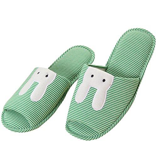 Euro Cielo Nero Gatto Antiscivolo Impermeabile Coperta Pantofole Per Uso Domestico Verde