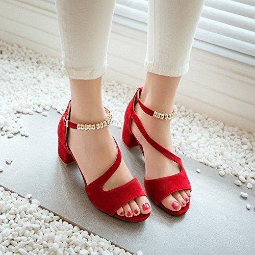 Zapatos Zapatos Peep Alto se Sandalias Chanclas Verano Bajos LI BAJIAN heelsWomen Sandalias Toe oras 0qX6wO