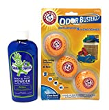 Squeaky CheeksActive Foot Powder and Arm & HammerOdor Busterz bundle prevent and attack blisters, chafing, rash, foot odor and bad smell for up to 6 months