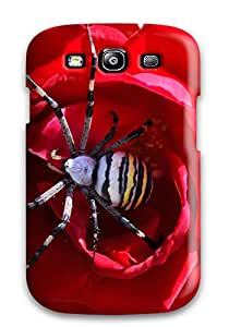 High Impact Dirt/shock Proof Case Cover For Galaxy S3 (striped_spider)