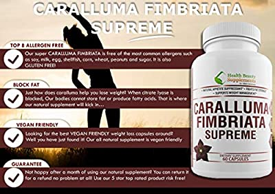HB&S Solutions | CARALLUMA FIMBRIATA for Weight Loss | Diet Pills That Work Fast for Women |& Men | 1200mg Extract Pure Diet Pills | Appetite Suppressant | Slim Night Time Fat Burner | 60 Capsules