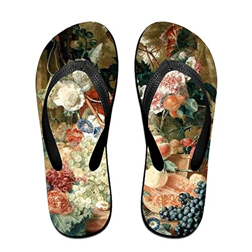 Flip Black Women Flowers Slippers Kids for and Fruit Men PTJHKET Insects Flops BHxdB1q