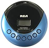 RCA Personal Music CD Player with FM Radio and Skip Protection, RP3013, Blue/Black (Non-Retail Packaging)