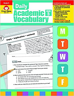 Daily academic vocabulary grade 5 evan moor 9781596732049 amazon daily academic vocabulary grade 5 evan moor 9781596732049 amazon books fandeluxe Images
