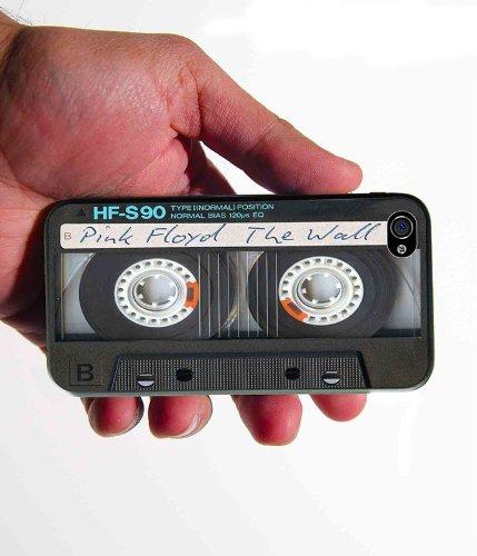 Custom Black Blank Cassette Tape iPhone 4 4s case Rubber - Iphone Cassette Tape Case 4s