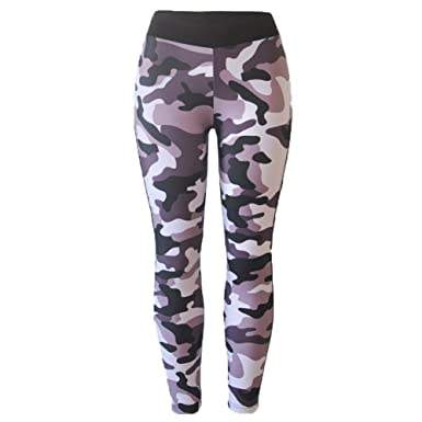 db3cba7af8 Women Camouflage Sports Pants Gym Fitness Yoga Running Leggings Trousers:  Amazon.co.uk: Clothing
