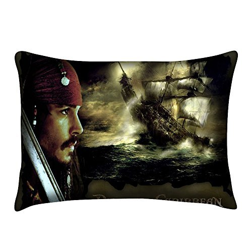 Johnny Depp Pirates of the Caribbean Jack Sparrow Home Decorative Two Sides Printed 20*30 Inch Pillowcase (Satin,Zippered) - Caribbean Pillowcase