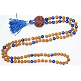 Tibetan Meditation Rudraksha Lapis Lazuli Necklace Yoga Energy Beads Mental Clarity Beads