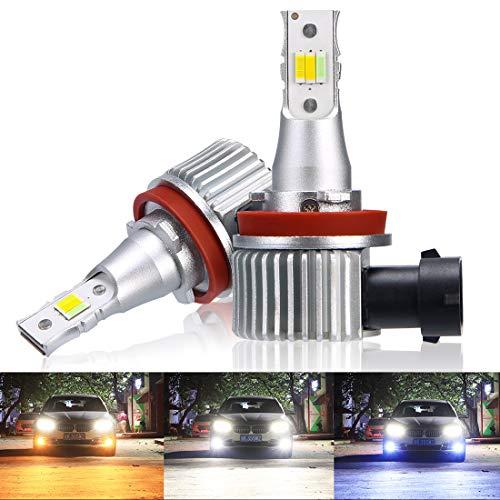 LEDフォグランプ SUPAREE H11 H8 H9 3色切替 LEDヘッドライト DC12V車用 ハイパワーチップ 26W 両面発光 6000k/3000k/4300k イエロー/ホワイト 3色切り替えフォグ 1年保証