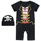 Mombebe Baby Boys Pirate Halloween Costume Romper with Hat (18-24 Months, Pirate)