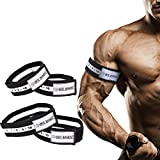 Occlusion Training Bands by BFR Bands, SLIDER SERIES BUNDLE, Blood Flow Restriction Bands For Lean & Fast Muscle Growth without Lifting Heavy Weights - 1.5 inch Arm Bands and 2 inch Leg Bands