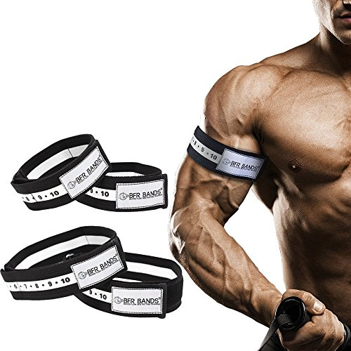 BFR BANDS Occlusion Training Bands, Slider Series Bundle, Blood Flow Restriction Bands for Lean & Fast Muscle Growth Without Lifting Heavy Weights - 1.5 inch Arm Bands and 2 inch Leg Bands