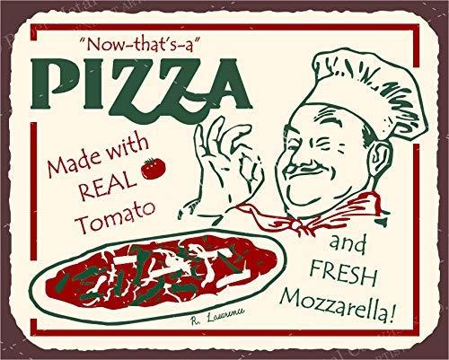 (Tin Sign 8X12 inches Pizza Chef Vintage Italian Pizzeria Retro Tin Signs)