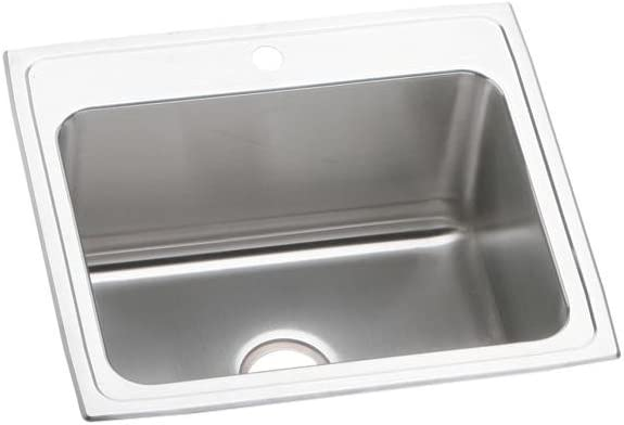Elkay DLR2522121 Lustertone Classic Single Bowl Drop-in Stainless Steel Sink