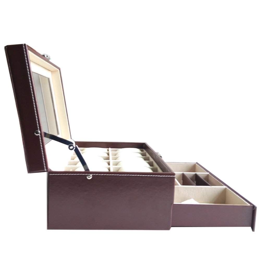 Feibrand PU Reloj Caja para Relojes/Pulseras