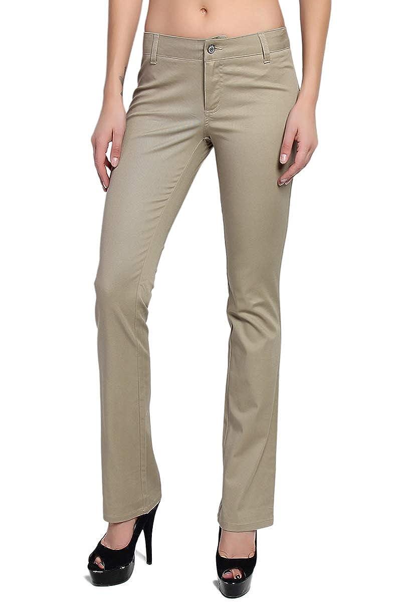 026ff4172ae6b TheMogan Dickies Girl Juniors Dealer No Pocket Straight Leg Pants Work  Uniform at Amazon Women's Clothing store: