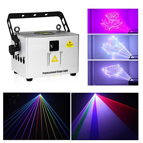 V-Show 3W Animation Laser Lights DMX512 LED Laser Stage RGB Laser Scanner DJ Disco Beam Stage Lighting Effect Laser Projector for KTV, club, party, pub, bar, banquet