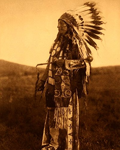 Native American Indain Photograph 8 X 10 Photo 1880s Chief High Hawk