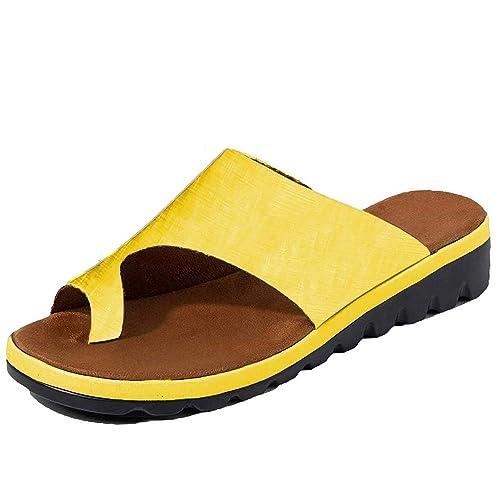 DoGeek Sandalias Mujer Verano 2019 Nuevas, Corrector de Juanetes, Sandalias con Punta Abierta de Viaje Verano: Amazon.es: Zapatos y complementos