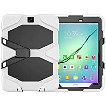 Galaxy Tab S2 9.7 Heavy Duty Case, SM-T810 Shock Proof With Kickstand Built-in Screen Full-Body Protective Case for Samsung Galaxy Tab S2 T810/T813/T815 9.7 inches
