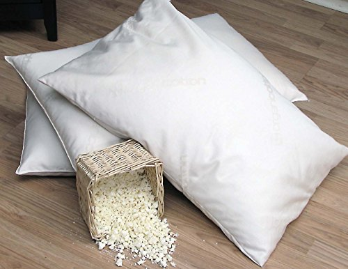 Natural Shredded Rubber Pillow - Organic Lifestyle Washable - Natural Shredded Rubber Latex - Down Alternative Zipper Pillow (Standard)