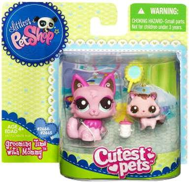 Littlest Pet Shop Cutest Pets Series 2 Figures Mommy Baby - Mommy Shop Littlest And Baby