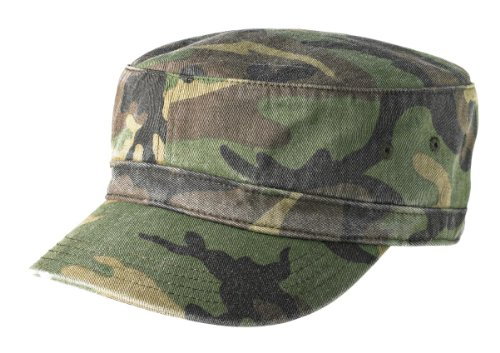 Joe's USA(tm Military Style Distressed Enzyme Washed Cotton Twill Cap-Camo