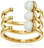Rebecca Minkoff Bead Wrap Gold with Pearl Ring, Size 7