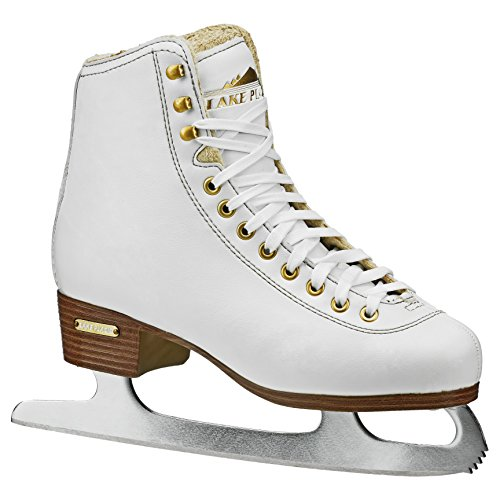 Lake Placid Alpine 900 Women's Traditional Figure Ice Skate, White, Size 8 -