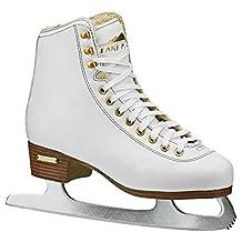 Lake Placid Alpine 900 Women's Traditional Figure Ice Skate, White, Size 10