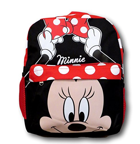 """Disney Minnie Mouse Polka Dot 12"""" All Over Toddler Size Backpack"""