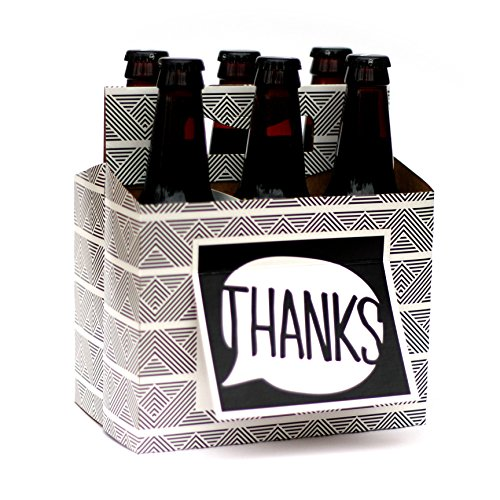 Beer Greetings Card Box, Thanks, 4 Count