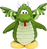 Disney Club Penguin 6.5 Inch Series 6 Plush Figure Dragon Version 2 Includes Coin with Code!