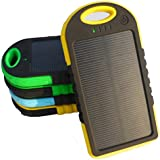 COTTEE 5000mAh Dual USB Port Portable Solar Battery Panel - Green