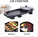 2 In 1 Electric Barbecue Grill Teppanyaki Cook