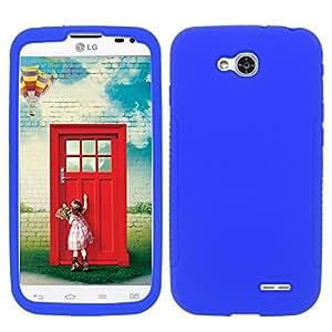 For LG Optimus L90 (T-Mobile) - Silicon Skin Cover - Blue SC