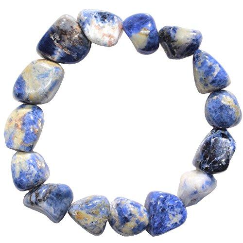 Zenergy Gems Sodalite Crystal Bracelet Tumble Polished Stretchy